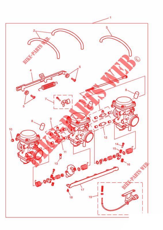 CARBURETTORS   US CALIFORNIA MODELS ONLY FROM ENG NO 55616  for Triumph TRIDENT