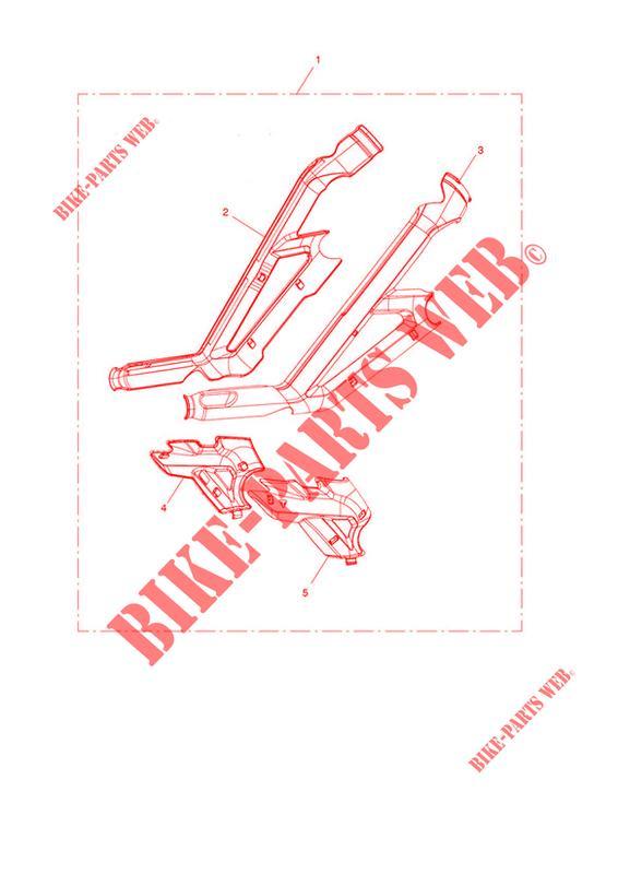 Frame Protector Kit For Triumph Tiger 800 Xrt   Triumph